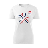 Women's T-shirt crossed sticks - white