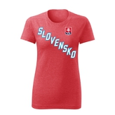 Women's T-shirt -  cross sign SVK - red heather