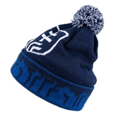 Kids' beanie with ball on top sticks logo