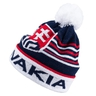 Beanie with ball on top and stripes logo Slovakia