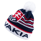 Kids' beanie with ball on top and stripes logo Slovakia